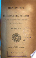 Atti della Reale Accademia dei Lincei  Rendiconti  classe di scienze fisiche  matematiche e naturali