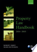 Property Law Handbook 2014 2015