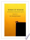 Words of Wisdom  Volume 36