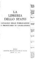 Catalogo delle pubblicazioni e prontuario di legislazione