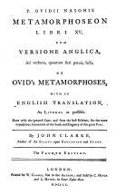 download ebook p. ovidii nasonis metamorphoseon libri xv, cum versione anglica, ad verbum, quantum fieri potuit, facta. or ovid\'s metamorphoses, with an english translation ... by john clarke ... the fourth edition pdf epub