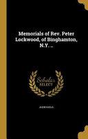 MEMORIALS OF REV PETER LOCKWOO