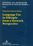Language use in Ethiopia from a network perspective