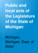download ebook public and local acts of the legislature of the state of michigan pdf epub