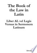 Book The Book of the Law in Latin