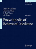 Encyclopedia Of Behavioral Medicine : clinical applications among researchers and...