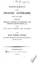 Das gelehrte Frankreich oder Lexicon der französischen Schriftsteller