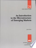 An Introduction to the Microstructure of Emerging Markets