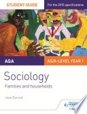 AQA Sociology Student Guide 2  Families and households