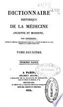 Dictionnaire historique de la m  decine ancienne et moderne