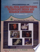 Proceedings of 17th All India Manufacturing Technology   Design and Research Conference