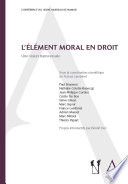 L L Ment Moral En Droit