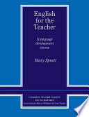 English For The Teacher : improvement by teachers on in-service training courses....