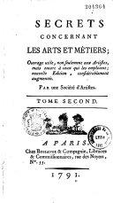Book Secrets concernant les arts et métiers