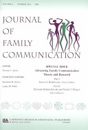 Advancing Family Communication Theory and Research