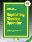 Duplicating Machine Operator