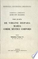 Corpus Christi Quod Est Ecclesia