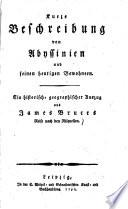 Kurze Beschreibung von Abyssinien und seinen heutigen Bewohnern
