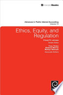 Ethics  Equity  and Regulation