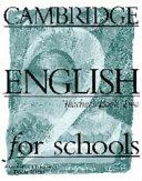 Cambridge English for Schools 2 Teacher's Book