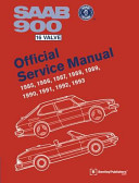 Saab 900 16 Valve Official Service Manual 1985 1986 1987 1988 1989 1990 1991 1992 1993