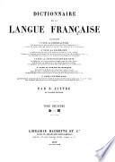 Dictionnaire de la langue fran  aise