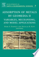 Adsorption Of Metals By Geomedia Ii book