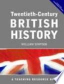 Twentieth Century British History