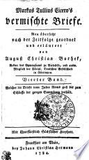 Markus Tullius Cicero's vermischte Briefe