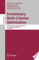Evolutionary Multi Criterion Optimization book