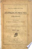 Ueber den kunsthistorischen Werth der Hypnerotomachia Poliphili