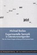 Experimentelle Semiotik in Literaturavantgarden