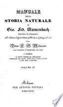 Manuale della storia naturale