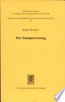 Der Transportvertrag