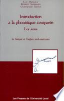 Introduction a la Phonetique Comparee
