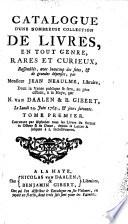 Veilingcatalogus, boeken van Jean Neaulme, 24 juni 1765