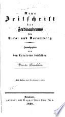 Zeitschrift des Ferdinandeums für Tirol und Vorarlberg
