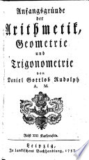 Anfangsgründe der Arithmetik, Geometrie und Trigonometrie