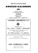 Kristiansands adresse-kalender