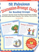 52 fabulous discussion prompt cards for reading groups   snap apart question cards that build comprehension   spark great discussions about character  plot  setting  theme    more