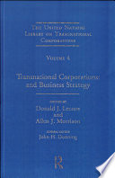 Transnational Corporations and Business Strategy