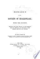 Remarks on the Sonnets of Shakespeare Book PDF