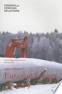 Eurasian Energy Security