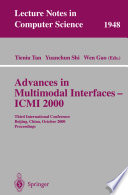Advances in Multimodal Interfaces   ICMI 2000