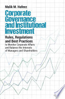 Corporate Governance and Institutional Investment