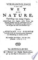 Verhandelinge Van De Wet Der Nature