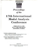 Proceedings of the 17th International Modal Analysis Conference