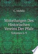 Mitteilungen Des Historischen Vereins Der Pfalz