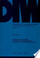 Analyse des Angebotspotentials und Projektion des Investitionsbedarfs im Verkehr in der Bundesrepublik Deutschland
