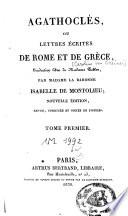 Agathocl  s ou lettres   crites de Rome et de Gr  ce